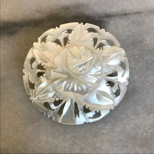 Carved Mother Of Pearl Bethlehem Pin